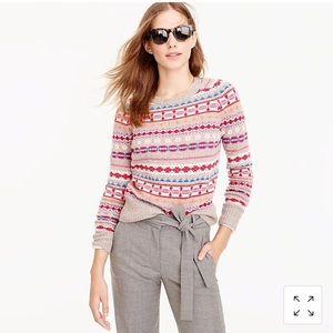 J. Crew holly sweater in fair isle 🔥 S